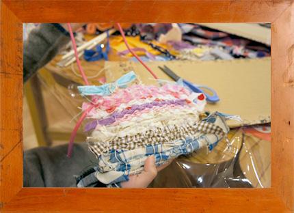 12.15(日)  patagonia×mammoth school リサイクル布をつかって裂き織りでポシェットづくりに挑戦! @ 西宮阪急
