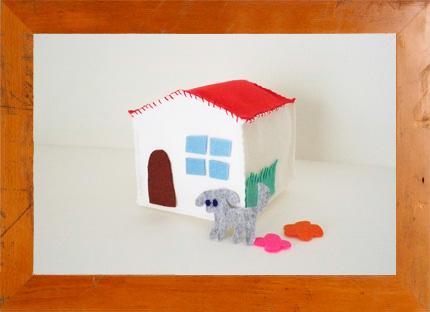 3.28(土) Mari Kamio × mammoth 美術家・神尾茉莉さんとフェルトのお家をつくろう @ 西宮阪急
